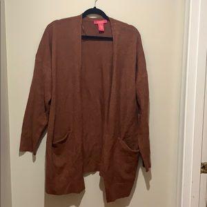 Burnt orange open cardigan. Nordstrom Rack